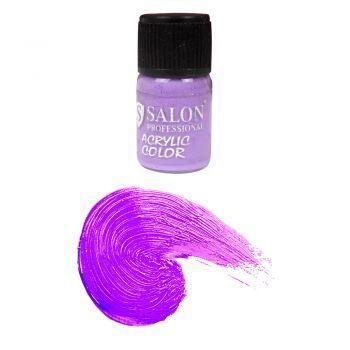 Ногти :: Акриловые краски :: Акриловая краска №59 Salon фиолетовая 3 мл. Acrylic paint is fast drying paint containing pigment suspension in acrylic polymer emulsion.