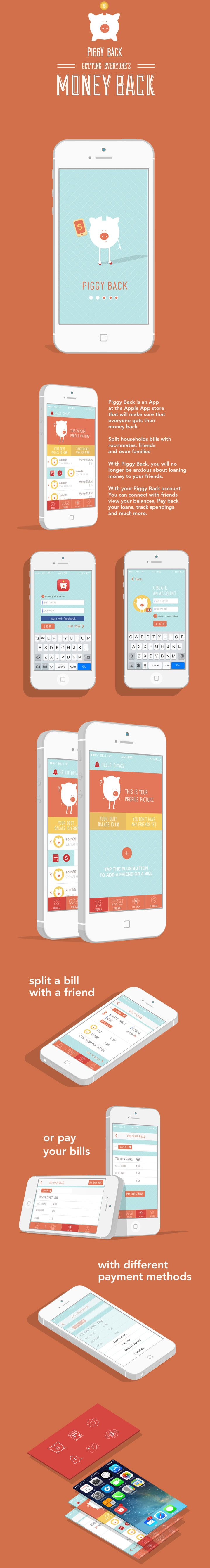 Piggy Back App  #ui #ux #ipad #ios #design