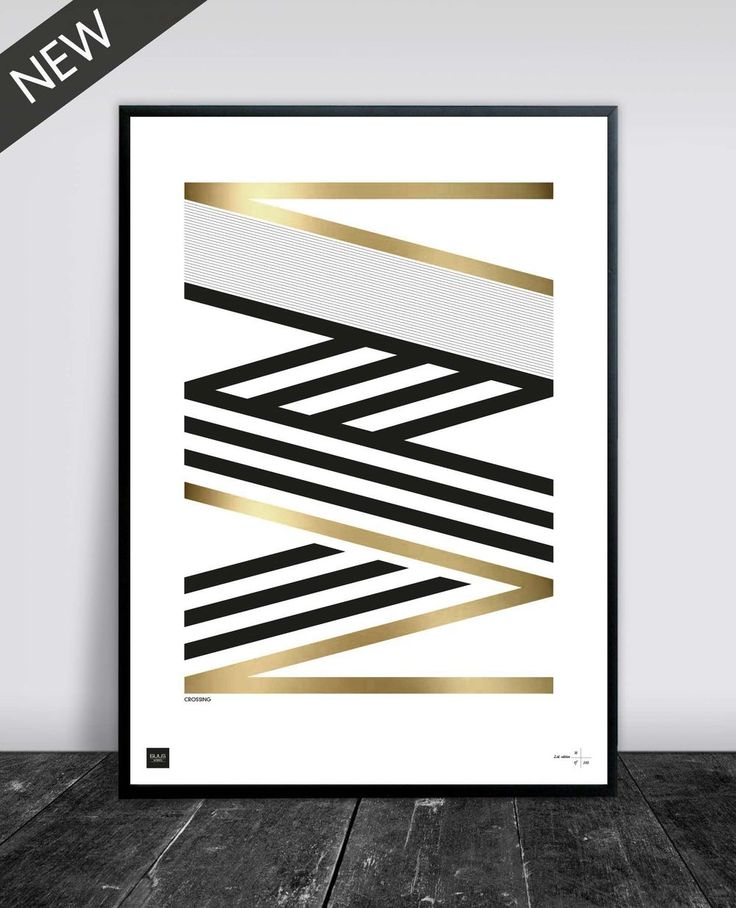 CROSSING GOLD/BRASS 50 X 70 CM via Buus Works. Click on the image to see more!