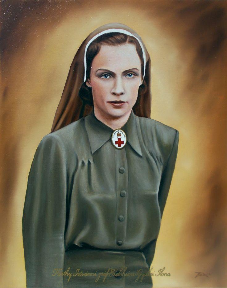 Horthy Istvánné gróf Edelsheim-Gyulai Ilona 40x50 cm. oil painting