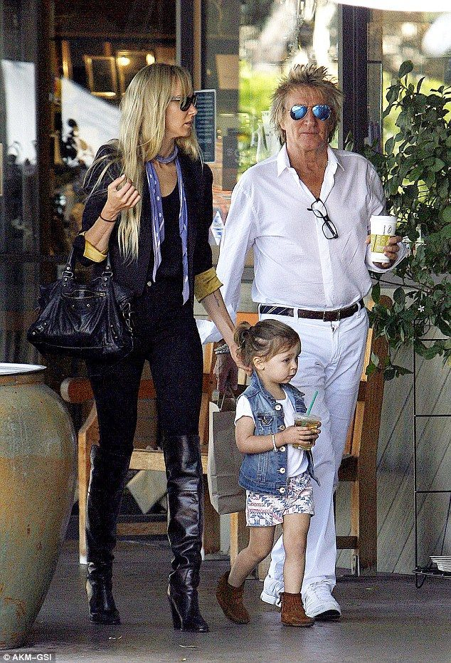 Rod+Stewart+Daughter | Rod Stewart gets some quality time with his daughter Kimberly and his ...