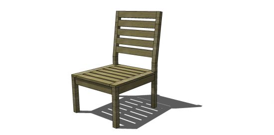 Free DIY Furniture Plans to Build a Rustic Outdoor Chair | The Design Confidential