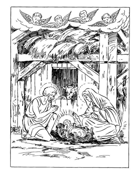 Christmas Traditional Coloring Pages 10