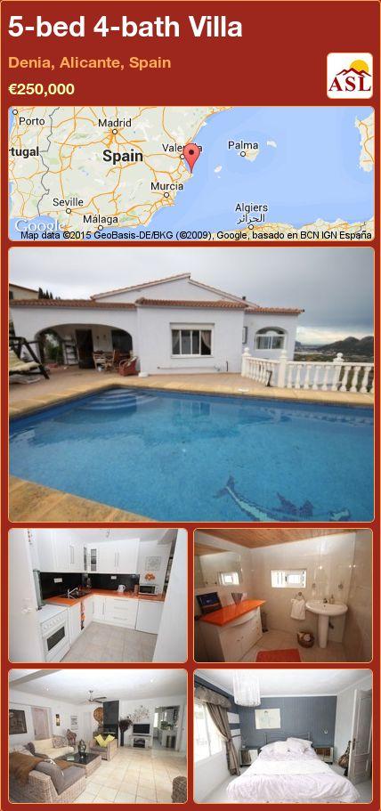 5-bed 4-bath Villa in Denia, Alicante, Spain ►€250,000 #PropertyForSaleInSpain