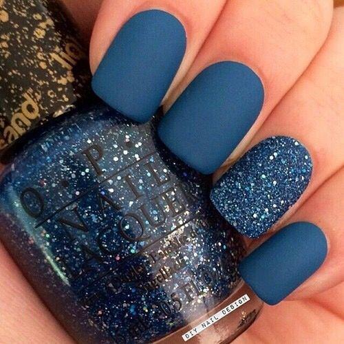 Slate blue fingernails