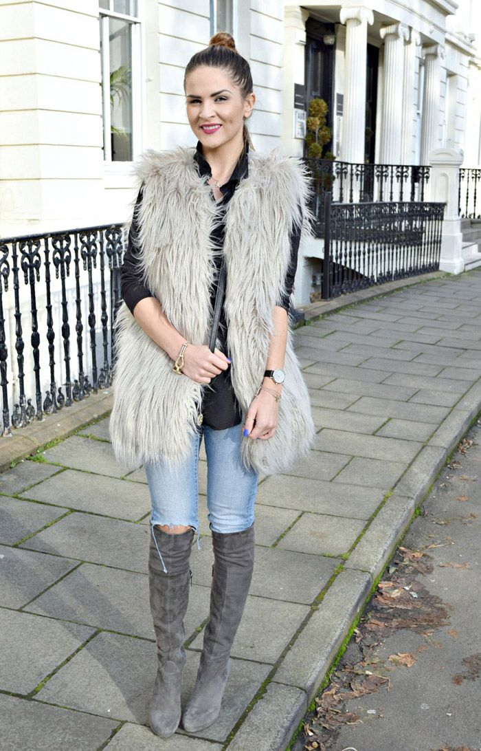What to Wear with Grey Over The Knee Boots - The 25+ Best Grey Boots Outfit Ideas On Pinterest Fall 2014