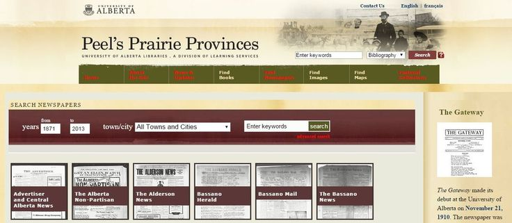 Online Historical Newspaper Collection of the Day - Peel's Prairie Provinces