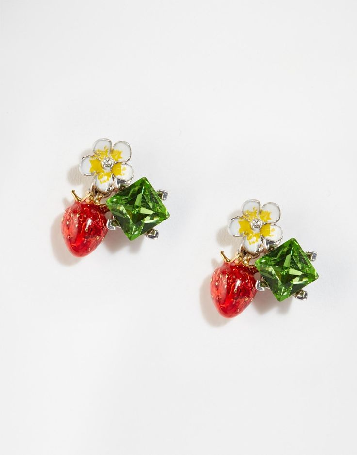 cherry for fruit stud girls enamel product pineapple studs earring strawberry earrings