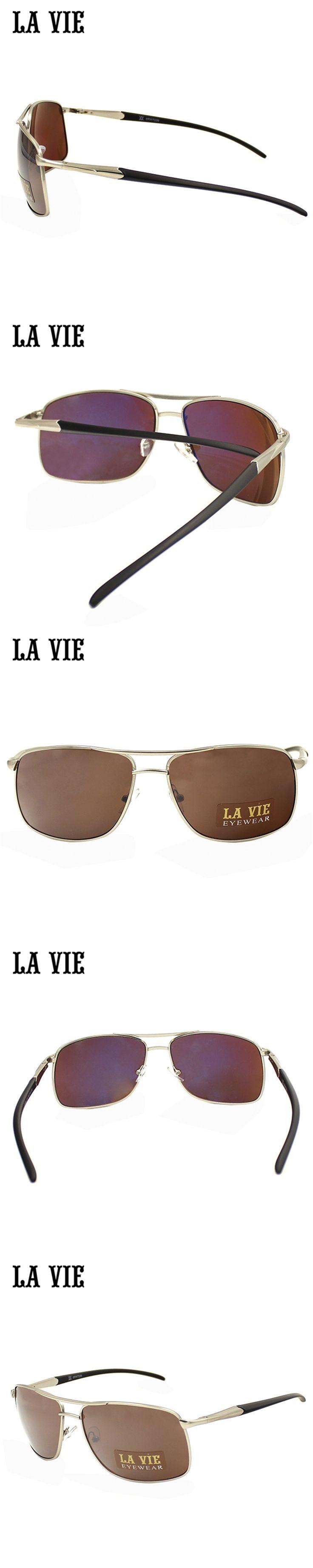 LA VIE 2016 New Fashionable Oval Sunglasses For Men Metal Sunglasses Brand Designer Gafas De Sol De Los Hombres UV400 #8RW7239