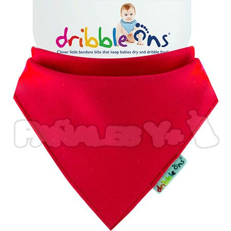 #DribbleOns Rojo #quitababas #bebe #babero http://www.panalesymas.com/baberos/babero-dribble-ons.html