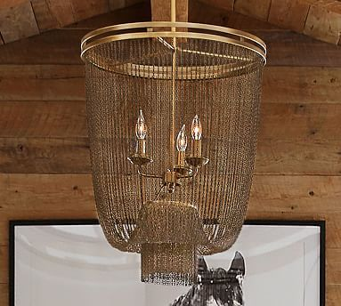 Atherton Chainmail Chandelier Pottery Barn 599 Special 479 Lights Pinte