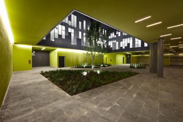 Quite a nice idea - gardens inside of the building
