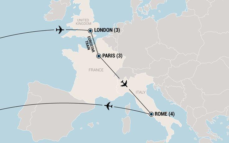 London, Paris & Rome  - Student Travel Tour | EF College Break - $3719 W/ AIR ~T