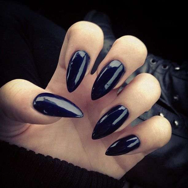 Black pointy nails...except on Halloween. Short black nails are a different story.