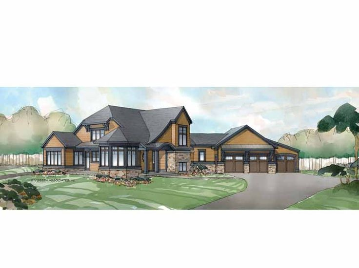 New American House Plan With 3393 Square Feet And 3 Bedrooms(s) From Dream
