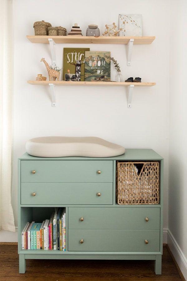 I Like The Dresser Drawers And Cubbies Nursery: Completed