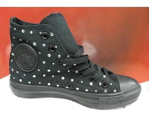 Converse all star monochrome black swarovski  ad Euro 129.00 in #Converse #Scarpe donna