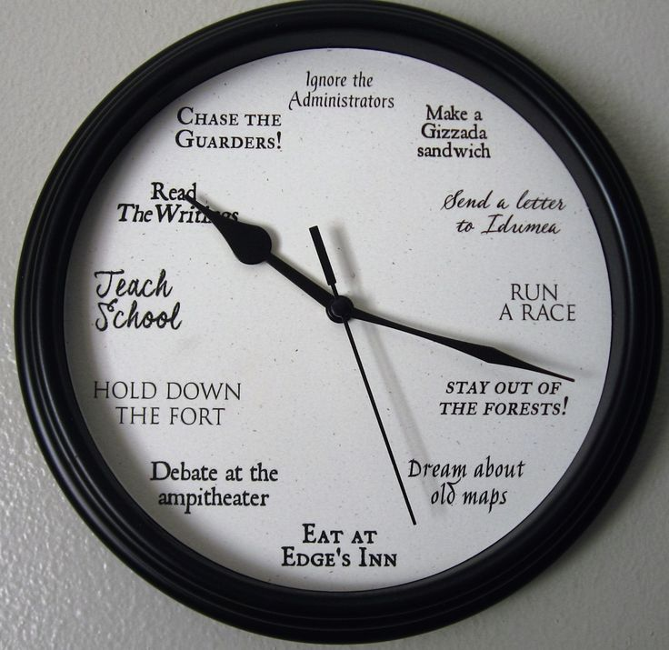 The Forest at the Edge official clock! Idumea clock, Administrator clock, Forest Edge clock by LetterThings on Etsy