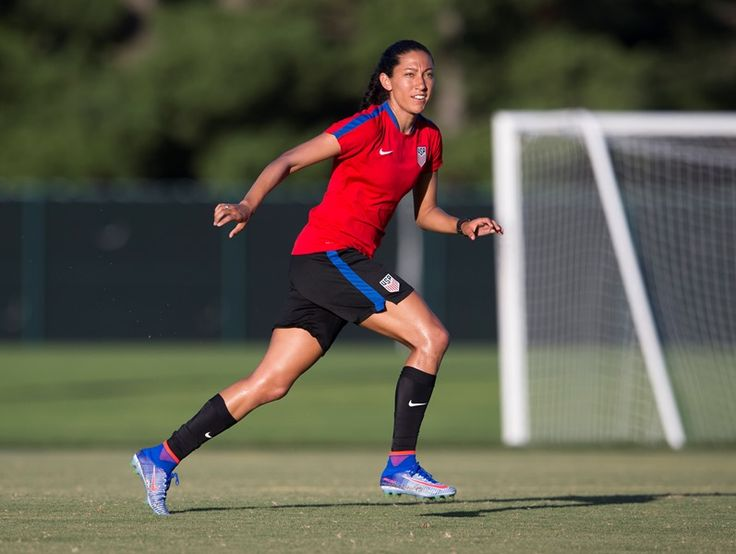 Christen Press || USWNT Training Ahead Final Olympic Games Send-Off Match vs Costa Rica (07.21.2016)