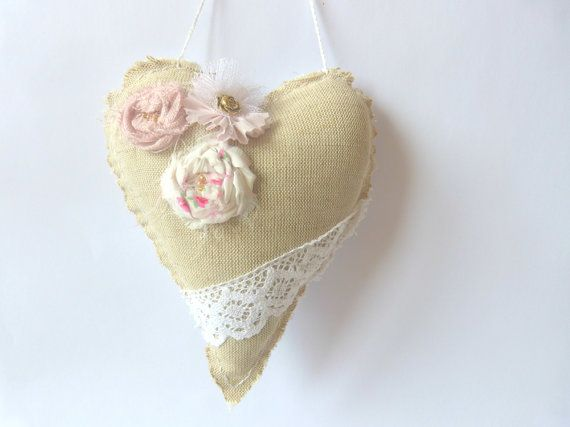 Beautiful handmade  work Heart Ornament by CrossStitchElizabeth