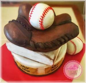Baseball Glove Cake #1