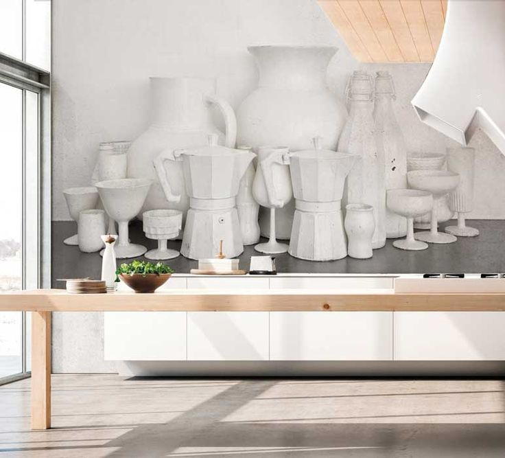 The exclusive collection in cooperation with the artist Davide Lovatti: wallpaper White Moka