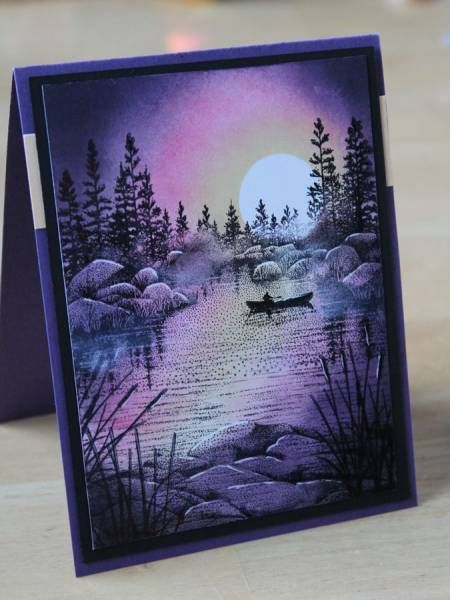 Purple Canoe by annascreations - Cards and Paper Crafts at Splitcoaststampers