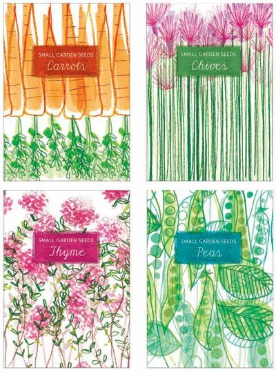 I love this garden seed packaging, it features delicate illustrations and fonts.