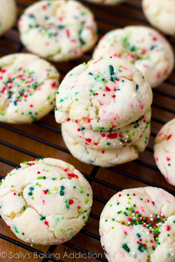 Holiday Confetti Cake Batter Cookies, easy, soft, thick, perfect.