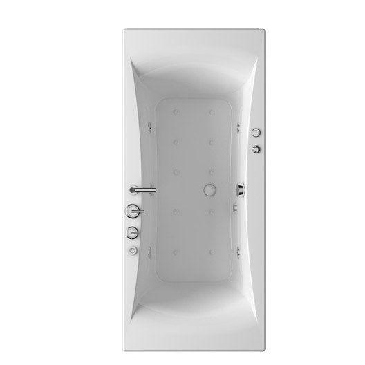 Baignoire balnéo rectangulaire THALA Confort, 170 x 75 cm