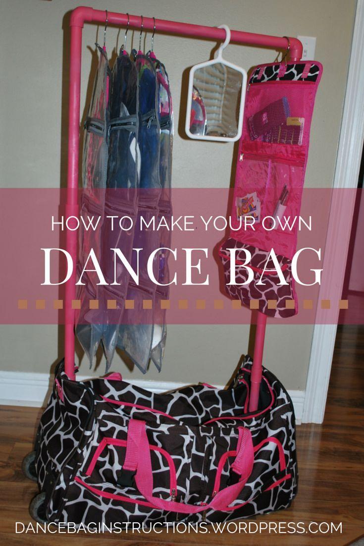 How to make a rolling dance duffel bag with garment rack, found on dancebaginstructions.wordpress.com: