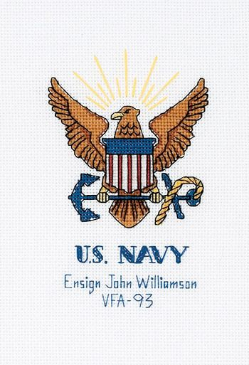 Military Pride US Navy - Cross Stitch Kit