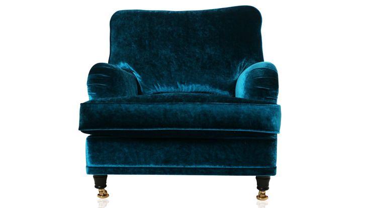 Blå sammet Lejonet fåtölj. Mässing, sammetstyg, sammetsmöbel, howard, vardagsrum, sovrum. http://sweef.se/sweef-lyx/144-lejonet-howardsoffa-3-sits-sammet.html