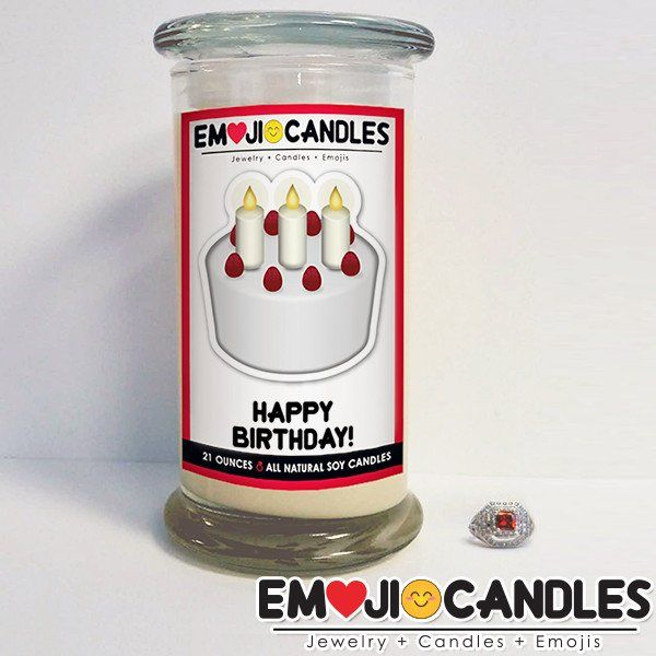 Happy Birthday! - Emoji Candles. Add a little fun & personal touch to your gift.. with an Emoji Candle! Yes, the Emojis everyone loves now has a candle that will make everyone smile!