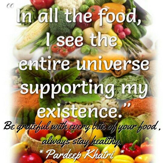 Gratitude for food.