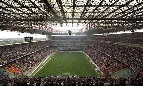 san siro stadium. the stadium is sponsored by adidas so will be called adidas arena with lucozade and other companies also sponsoring.