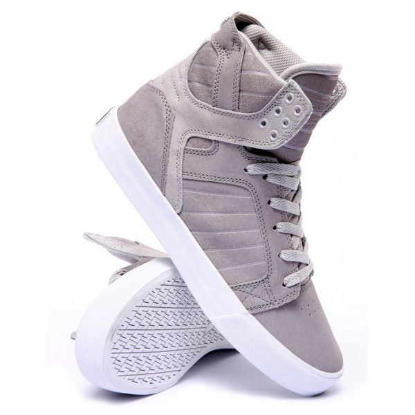 skytop sneakers by Supra ($106) ❤ liked on Polyvore featuring shoes, sneakers, supra footwear, supra shoes and supra sneakers