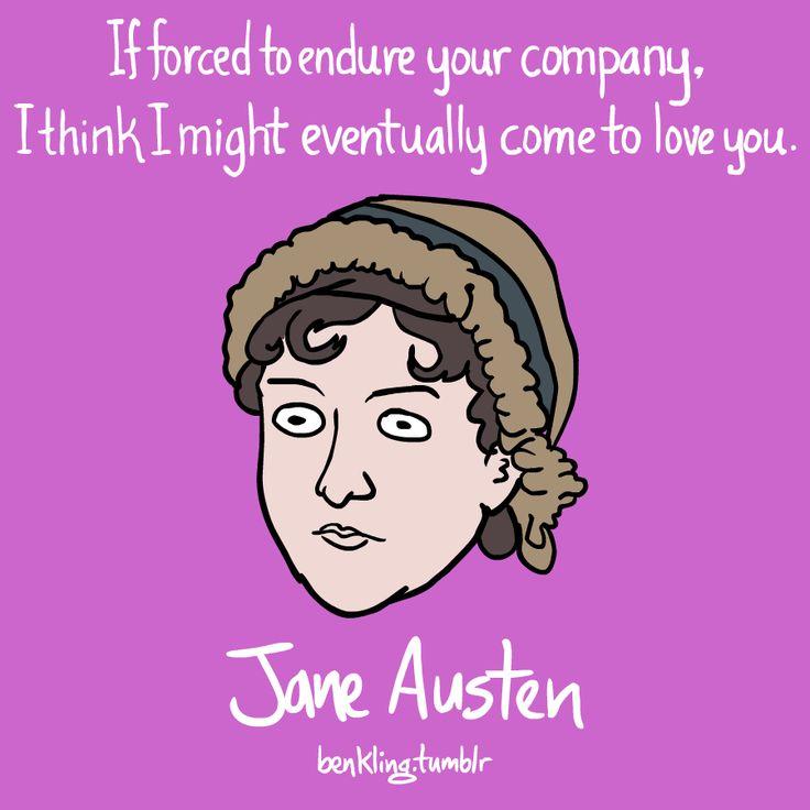 Jane Austen valentine by Ben Kling