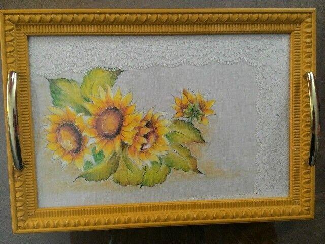 Vassoio dipinto a mano
