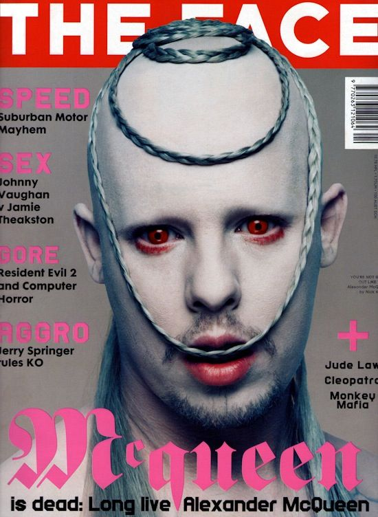 Image result for alexander mcqueen face magazine controversial