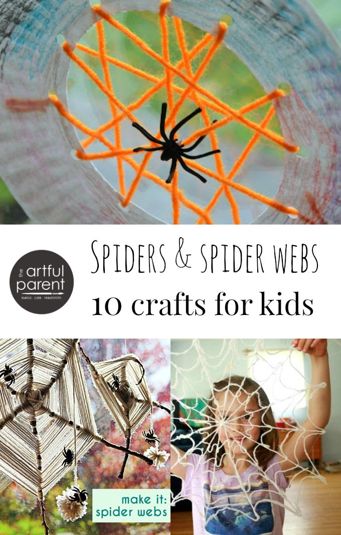 Spiders and Spider Web Crafts - 10 of the best ideas for kids