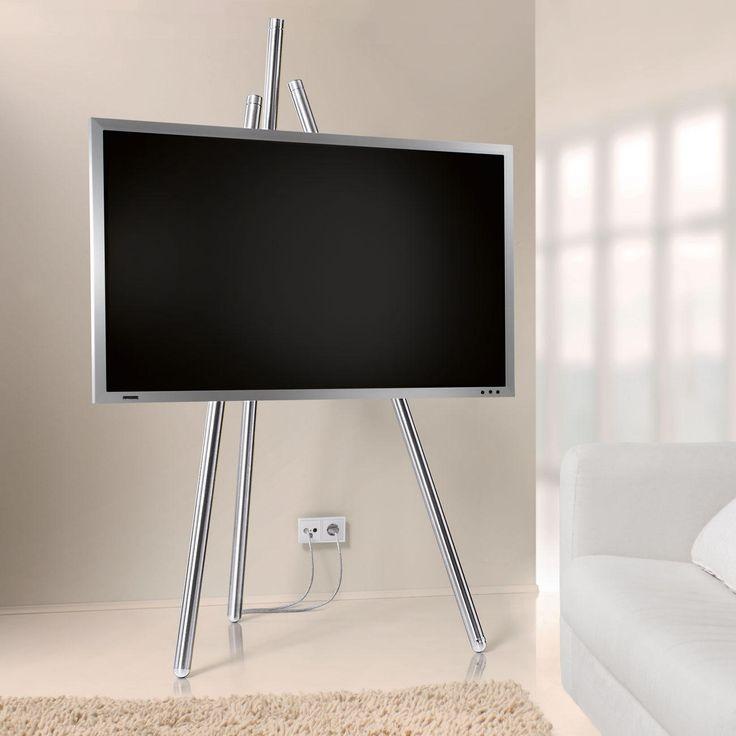 Flat-TV-Staffelei Bietet beste Sicht auf Ihren Flachbild-Fernseher. Und lässt unschöne Kabel geschickt verschwinden.