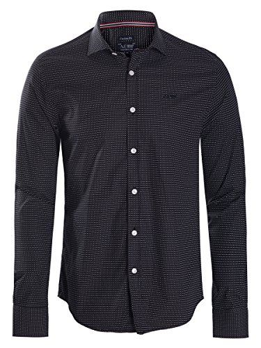 Armani-Jeans-Mens-Dress-Shirt-Black