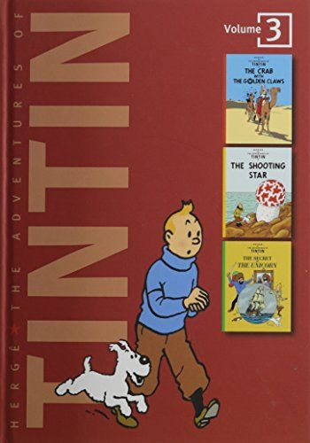 The Adventures of Tintin, Vol. 3: The Crab with the Golden Claws / The Shooting Star / The Secret of the Unicorn (3 Volumes in 1) by Hergé http://www.amazon.com/dp/0316359440/ref=cm_sw_r_pi_dp_ZnzRwb1JTAKH7