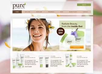 Organic Beauty Products >> Pure Skincare Template - This template's natural colors and floral background make it perfect ...