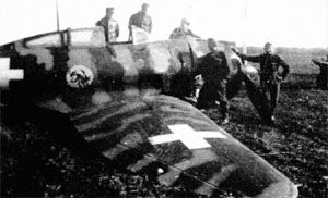 Reggiane Re2000 built as Hejja in Hungary, crash landed