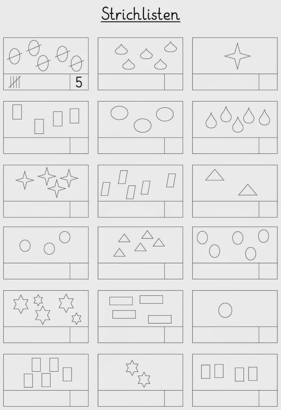 Lernstübchen: Strichlisten - 6 Arbeitsblätter