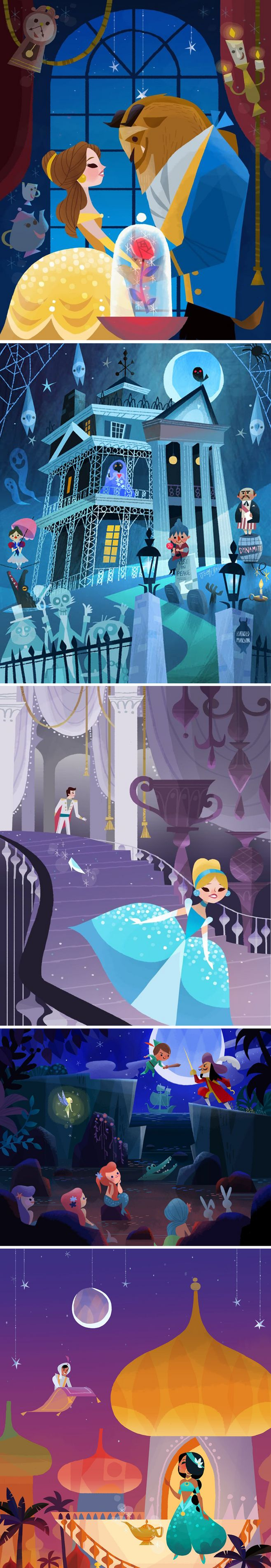 #illustrations of #Disney movies by Joey Chou