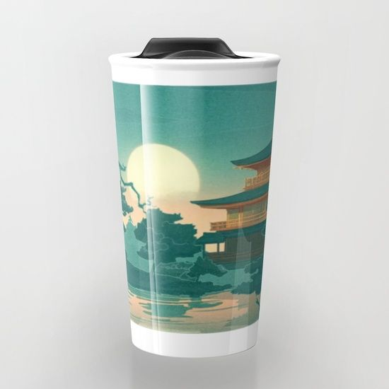 Birds Ocean House Travel Mug