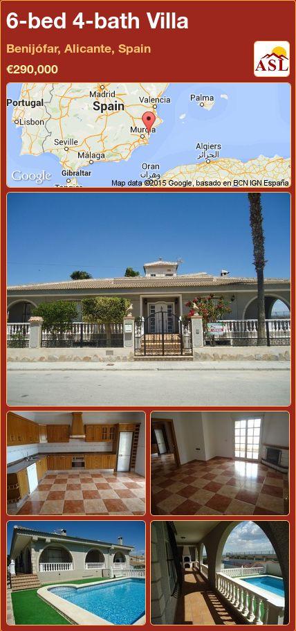 6-bed 4-bath Villa in Benijófar, Alicante, Spain ►€290,000 #PropertyForSaleInSpain